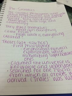 """""""My philosophy notes, and yes, I'm a boy."""" via Reddit"""