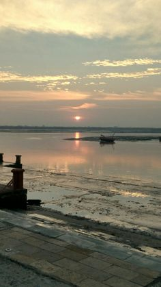 Sun Rising at Gomathi River.. Dwarka