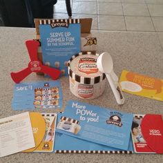 Yay!  Finally got a new bzz campaign. This month is Dreyers Frozen Custard. We chose Snickerdoodle. The kit came with everything shown here. #FrozenCustardTime, #DREYERS  #GotItFree from #BzzAgent
