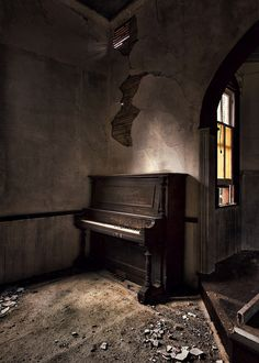 derelict church piano by Jamie Betts Photo on Flickr.