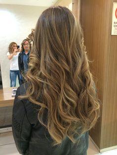 Balayage , long hair , wane