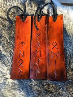 awesome viking bookmarks with customization available in my etsy store