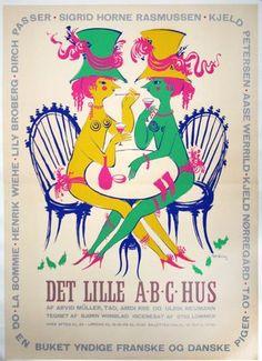 A great Bjørn Wiinblad poster design, from Chisholm Gallery http://www.vintagepostersnyc.com/.