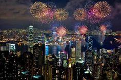 Happy New Year in Hong Kong, China