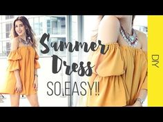 DIY VESTIDO OFF SHOULDER | Super fácil y trendy!! | WanderLu Style - YouTube