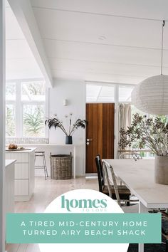 Step inside this tired mid-century home turned airy beach shack. An art director and a landscaper have created a light, serene haven that perfectly suits their laid-back lifestyle. Beach Shack, Australian Homes, House Extensions, Wooden Kitchen, Cabinet Makers, Step Inside, Mid Century House, Coastal Style, Art Director