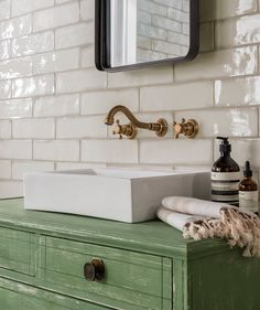 Bathroom tiles at Topps Tiles. Suitable for walls & floors in a range of colours & materials. Victorian Tiles, Victorian Bathroom, Vintage Bathrooms, Victorian Decor, Fully Tiled Bathroom, Bathroom Wall, Bathroom Interior, Bathroom Ideas, Loft Bathroom