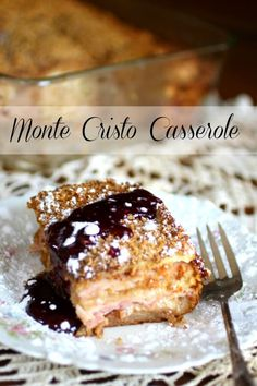 Nutritious Snack Tips For Equally Young Ones And Adults This Monte Cristo Casserole Is Perfect For Christmas Brunch Or A Light Dinner Anytime. Layers Of Ham, Smoked Turkey, Swiss Cheese, And Bread Are Topped With A Crunchy Panko Crust. Monte Cristo Sandwich, Brunch Recipes, Breakfast Recipes, Dinner Recipes, Breakfast Casserole, Breakfast Ideas, Savory Breakfast, Breakfast Bake, Dessert Recipes