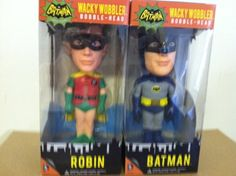 Batman and Robin 1966 Funko Wacky Wobblers Set of 2 http://popvinyl.net #funko #funkopop #popvinyls