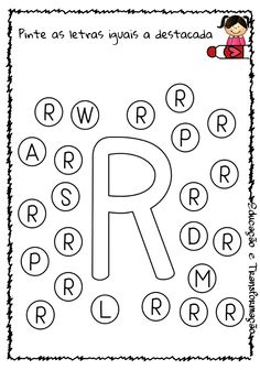 Blog Educação e Transformação: 👍 Alfabeto: pintando as letras Toddler Learning Activities, Alphabet Activities, Preschool Activities, Homeschool Preschool Curriculum, Shape Sort, Kids Schedule, Play Day, Letter Recognition, Home Schooling