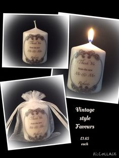 Wedding favour candle set (10)