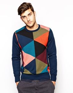 Paul Smith Jeans Sweater with Intarsia Argyle