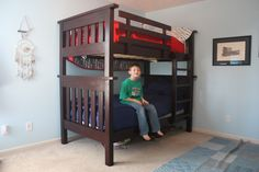 how to build a simple bunk bed ladder