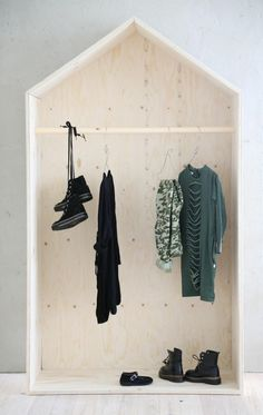 4 Easy Steps For Developing A Sunroom Diy Inspiration In This Plywood Wardrobe House For The Kids Room. Makes Keeping Things Tidy A Little More Fun, Right? Luona In - Talonaulakko Dressing Pas Cher, Plywood House, Kids Bedroom, Bedroom Decor, Master Bedroom, Diy Furniture, Furniture Design, Furniture Plans, Simple Furniture