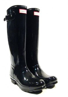 8aaca311de Botas de agua Hunter charol negras. ▻ Compra tus Hunter Original tall gloss  en negro