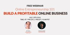 Build a Profitable Online Business Online Entrepreneurship 101  http://www.templatemonster.com/blog/live-webinar-build-profitable-business-online-stephen-gilbert/
