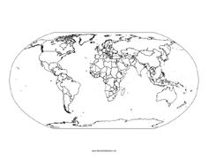 World Pacific Ocean centered : free map, free blank map