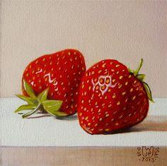 2 strawberries - Original Fine Art for Sale - © Jean Pierre Walter