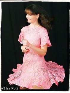 Handmade Crocheted Pink Dress