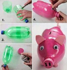 juguetes con botellas