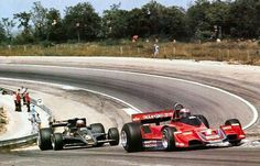 1977 French GP, Dijon : John Watson in his Brabham/Alfa-Romeo BT45 (finished 2nd) chased by Mario Andretti driving Lotus-Ford 78 (eventual winner).