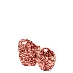 PAPER WICKER BASKET SET OF 2 Rope Basket, Wicker Baskets, Baby Shoes, Paper, Harvest, Art, Art Background, Kunst, Crib Shoes