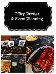 Tips for organizing and hosting an office party or event.