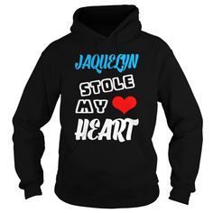 Jaquelyn Stole My ᗕ Heart  TeeForJaquelyn Jaquelyn Stole My Heart  TeeForJaquelyn  If you are Jaquelyn or loves one Then this shirt is for you Cheers TeeForJaquelyn Jaquelyn