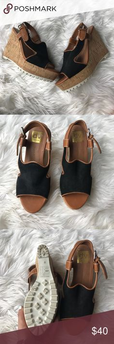 Dolce Vita Lug Sole Wedges Dolce Vita Lug Sole Wedges worn once in great condition! DV by Dolce Vita Shoes Wedges