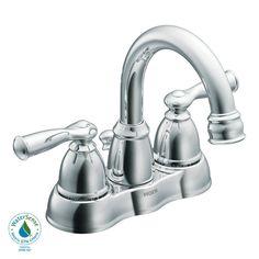 MOEN Banbury 4 in. Centerset 2-Handle Bathroom Faucet in Spot Resist Brushed Nickel-WS84913SRN - The Home Depot
