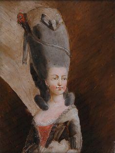 A portrait of Marie Antoinette by an unknown artist, century. [credit: Azur Enchères Cannes/Pichon/Noudel-Deniau , via Auction. Francis I, Maria Theresa, French School, Roman Emperor, Louis Xvi, Art Google, 18th Century, Marie, Royalty