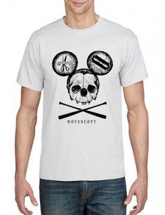 Black mickey white tshirt