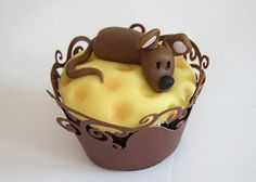 Mouse and Cheese Cupcake