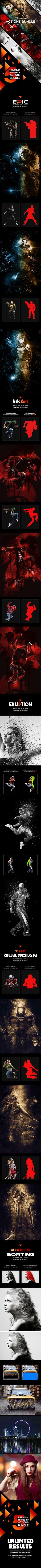 Five Photoshop Actions Bundle — Photoshop ATN #explosion #tutorial • Download ➝ https://graphicriver.net/item/five-photoshop-actions-bundle/20326670?ref=pxcr