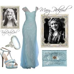 Mary Pickford by trulygirlygirl on Polyvore featuring Nicholas Kirkwood, Anya Hindmarch and Monique Lhuillier