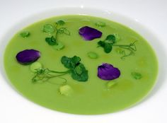La Dame de Pic 20 Rue du Louvre, 1st arr.  (le petit pois de montagne)  pea soup flavored with a touch of réglisse and galanga