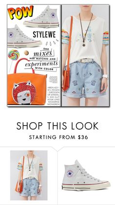 """""""Stylewe 7"""" by adnaaaa ❤ liked on Polyvore featuring Converse, Kate Spade and Old Navy"""