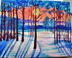 (3) Одноклассники Winter Art Projects, School Art Projects, Autumn Art, Preschool Art, Art Lesson Plans, Pretty Art, Art Classroom, Simple Art, Art Activities