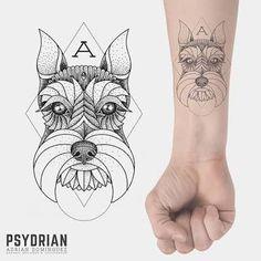 Resultado de imagen para schnauzer tattoo