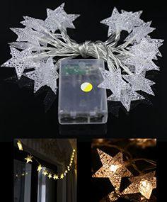 YeMarket LED Star Light Fairy String Light 2m66ft 20LEDs for Christmas XMAX Weddings Family Festival School PartyWarm White *** Click image for more details.