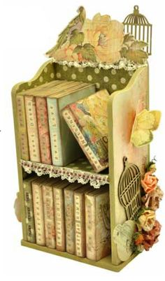 Kaisercraft bookshelf- would be so pretty to store mini album's on