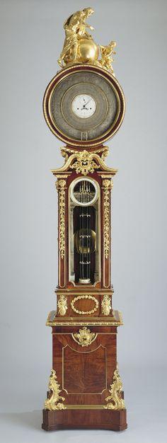 Barometrical Clock - Creator: Alexander Cumming (1733-1814) (clockmaker (movement)) Creation Date: 1763 - 1765 Oak case with padouk veneer and gilt bronze mounts, ivory interior columns