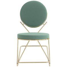 Moroso Double Zero Chair in Polished Black Chrome or Gold Chrome | 1stdibs.com