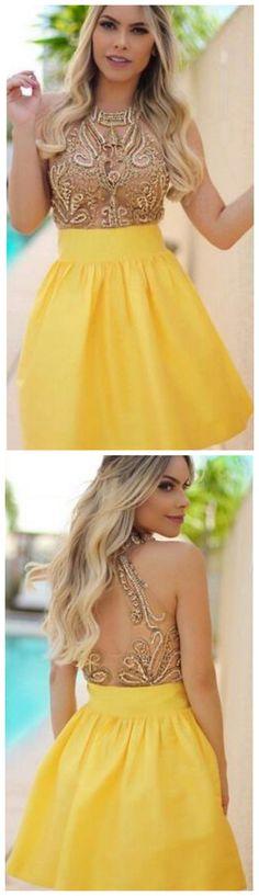 Beading Homecoming Dress,Sweet 16 Senior Homecoming Dresses Beaded