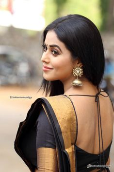 Poorna In Black Saree Photos Beautiful Girl Indian, Most Beautiful Indian Actress, Beautiful Saree, Beautiful Actresses, Beautiful Women, Beautiful Gorgeous, Simply Beautiful, Beautiful Places, Beauty Full Girl