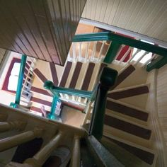 Stairs inside Cabot Tower, Signal Hill,  Newfoundland Canada