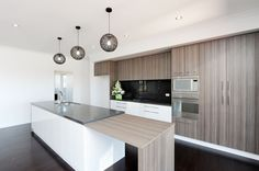 kitchen with raven caesarstone bench top - Google Search