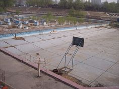 Abandoned pool in Olympic city, Beijing