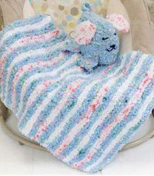 Striped Baby Blankie and Playful Puppy Pal | FaveCrafts.com