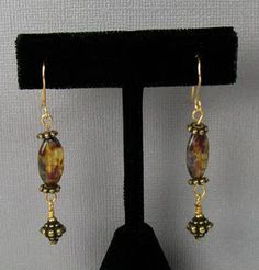 Crystal and Glass Earring Projects: Picasso Glass and Brass Earrings